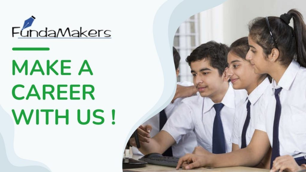 MAKE A CAREER WITH US !